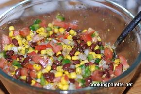 black bean and corn salsa rice chicken soup (1)