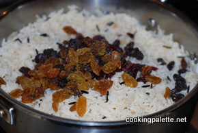 parbroiled rice pilaf with cranberries and raisin (4)