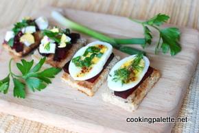 beet egg canape (4)