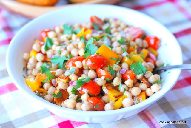 garbanzo pepper tomato salad (15)