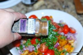 garbanzo pepper tomato salad (7)
