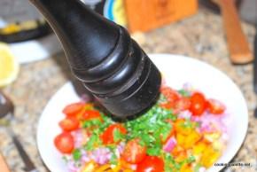 garbanzo pepper tomato salad (8)
