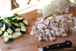 chicken mushroom crustless quiche (1)