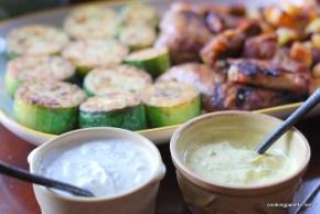two yogurt sauces fried zucchini  (11)