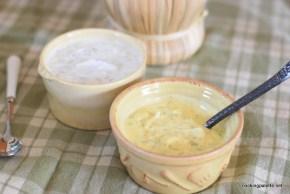 two yogurt sauces fried zucchini  (8)