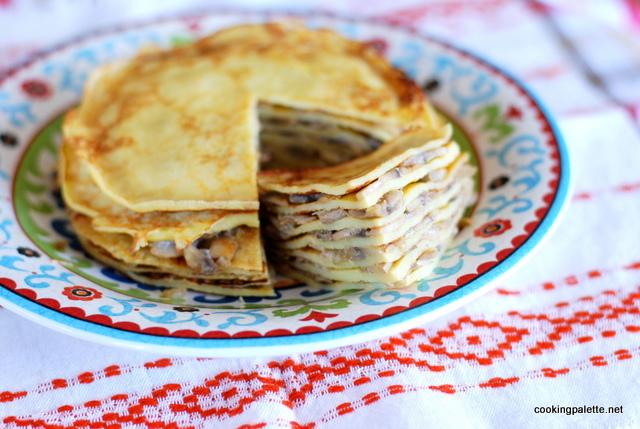 pancake cake with mushrooms (17)