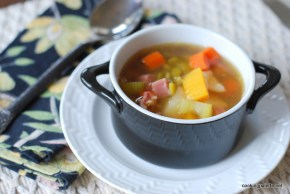 pea soup with ham and pumpkin (12)