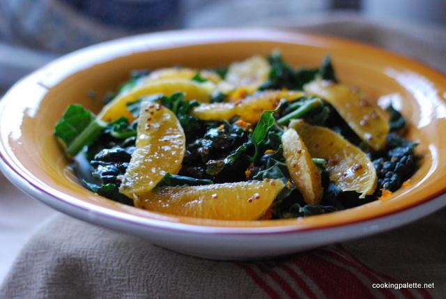kale orange salad orange vinaigrette (11)