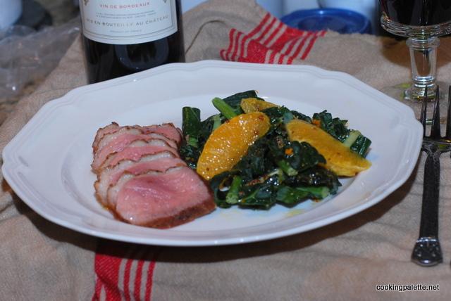 kale orange salad orange vinaigrette (16)