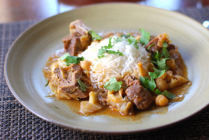 goat curry with cabbage and chickpeas (12)
