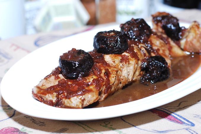 pork tenderloin with prune sauce00016