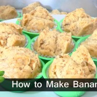 How to Make Banana Steam Cupcake / Banana Puto