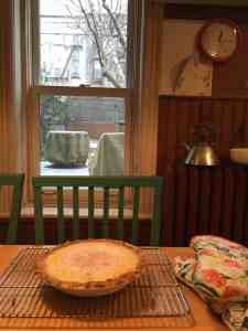 Black Bottom Lemon pie, out of the oven.