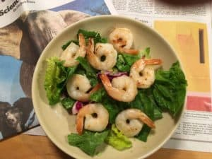 Enjoy a simple summer shrimp salad bowl.