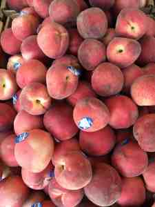 Peaches at the market.