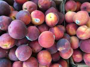 More market peaches.
