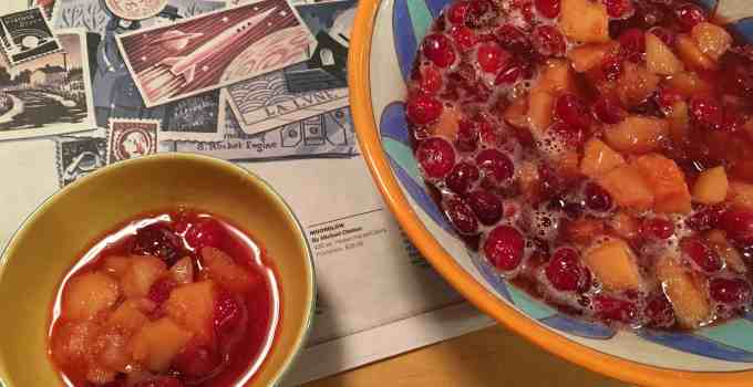 Quince and Cranberry Compote