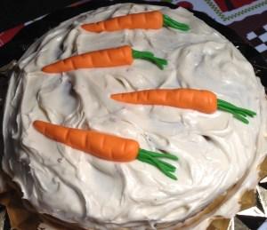 Tarta de zanahoria con fondant