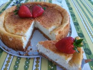 tarta de queso y yogur griego al horno