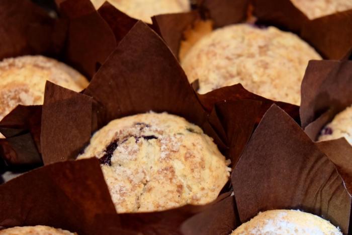 Muffins de arándanos con leche evaporada