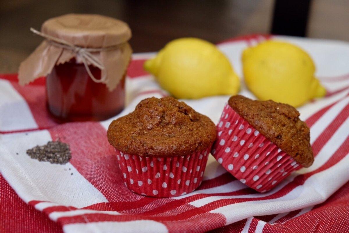 Muffins de semillas de chía y limón