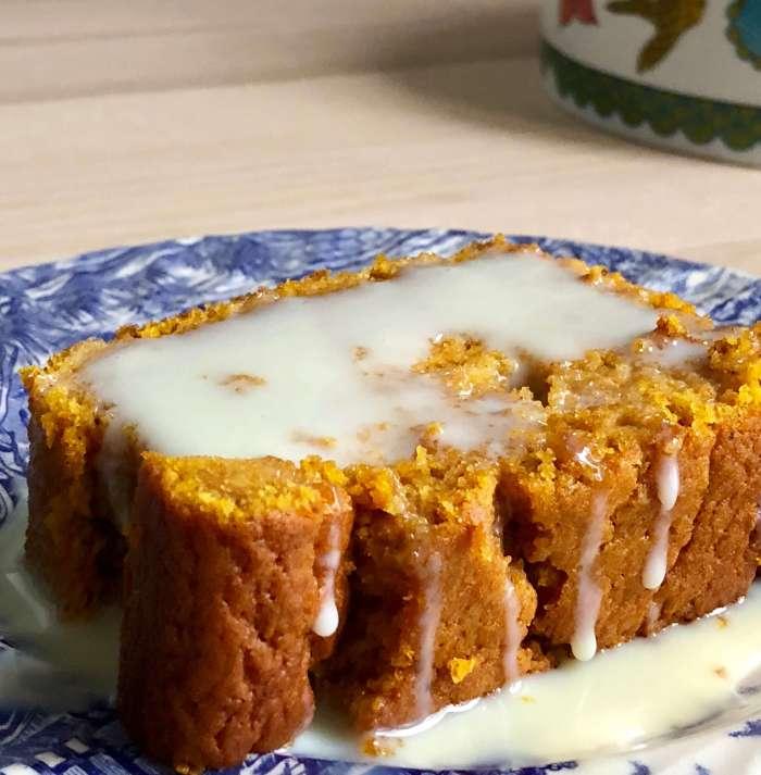 Pastel de calabaza y zanahoria asadas