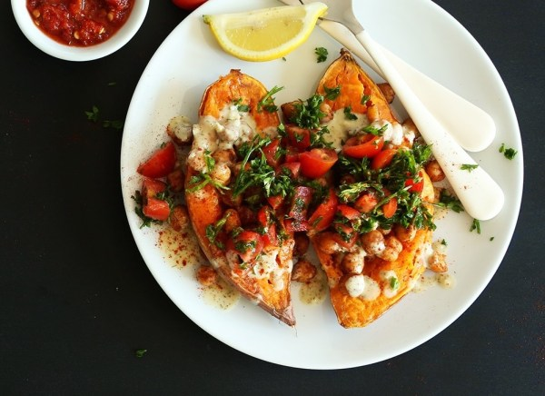 Mediterranean-Baked-Sweet-Potatoes-A-healthy-30-minute-meal-thats-flavorful-and-filling-vegan-glutenfree