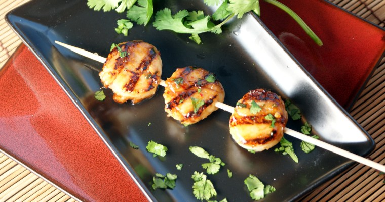Ginger Grilled Scallops