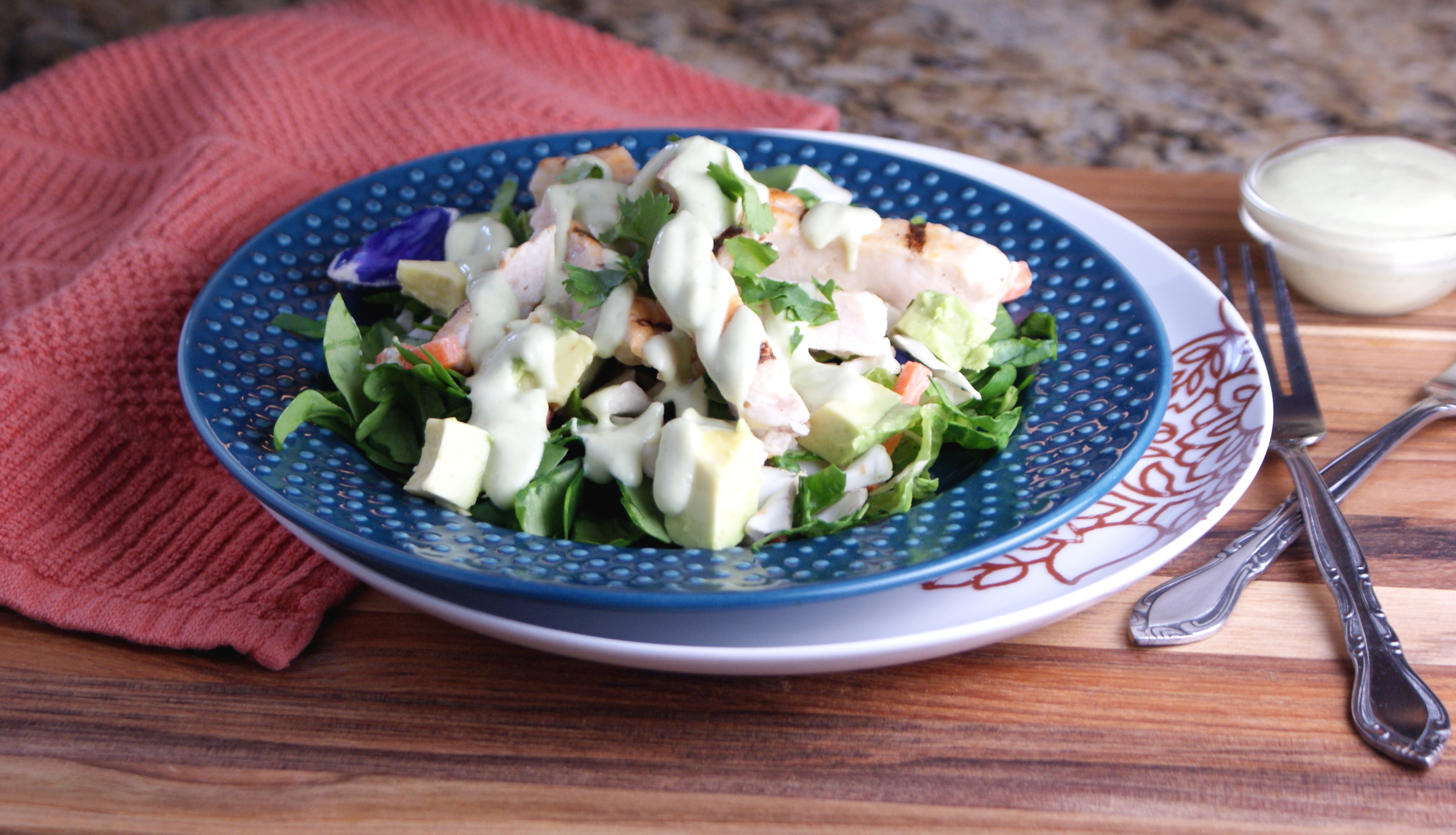 Chicken And Avocado Salad With Lime And Cilantro Recipe ...