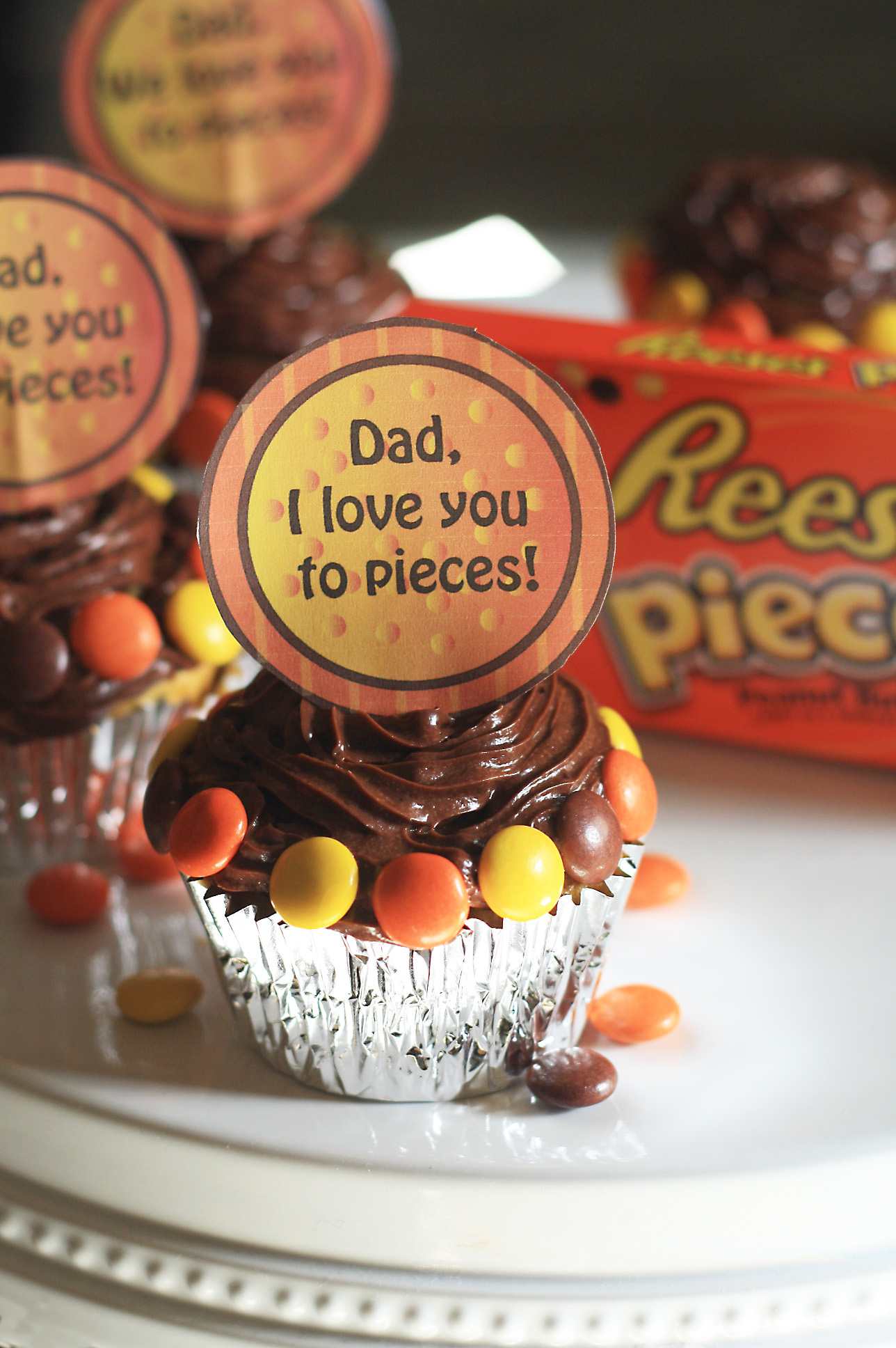 Father S Day Printable Cupcake Toppers Cooking Up Cottage