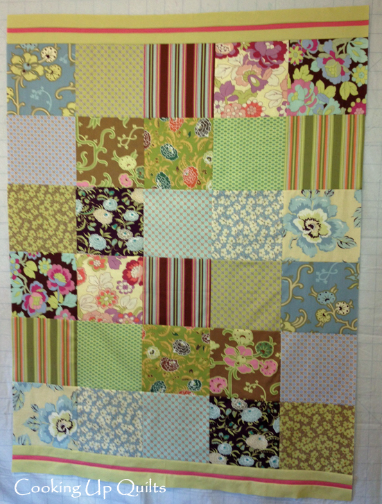 Floral Whimsy Throw Quilt