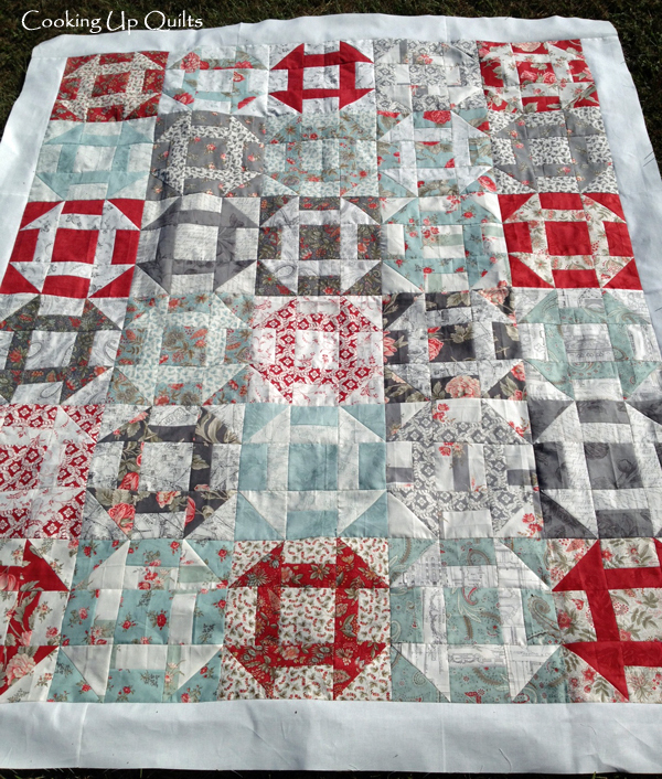 Churn Dash Quilt Top Etchings Moda