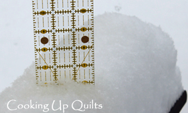 Snow Measured with Quilt Ruler