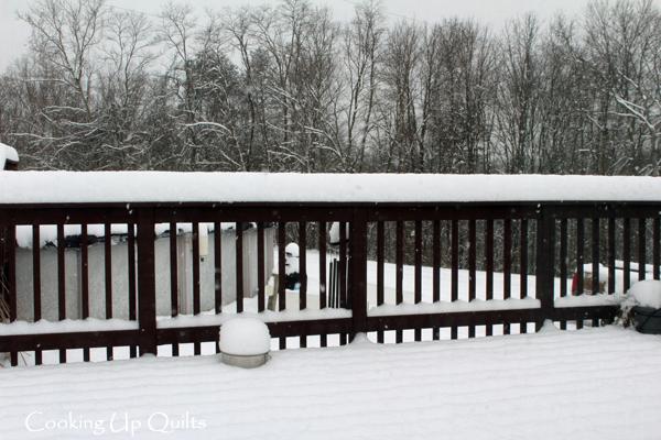 Snow on My Deck