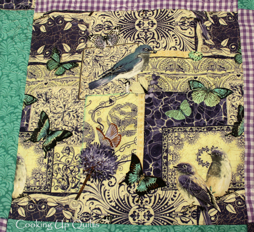Birds and Butterfllies Panel Quilt