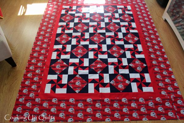 Flimsy Pinwheel quilt blocks