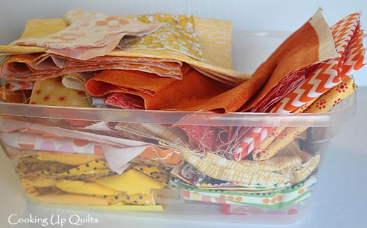 Orange Yellow scrap bin