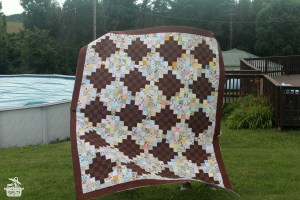 Brown Scrappy Quilt