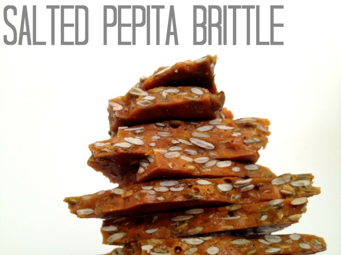 Salted Pepita Brittle by Cooking with Books
