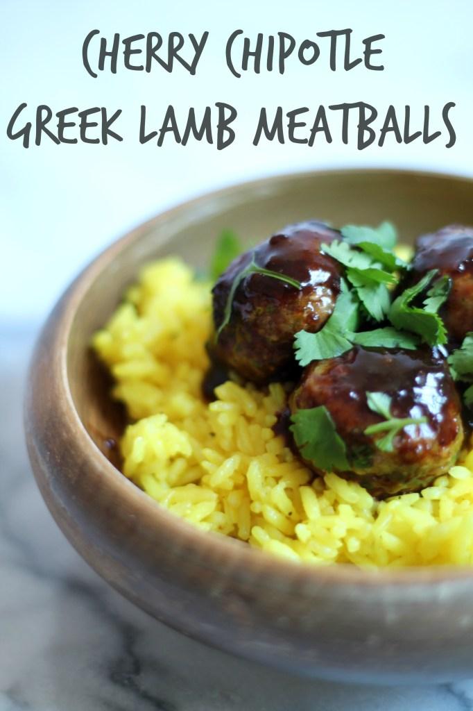 Cherry Chipotle Greek Lamb Meatballs
