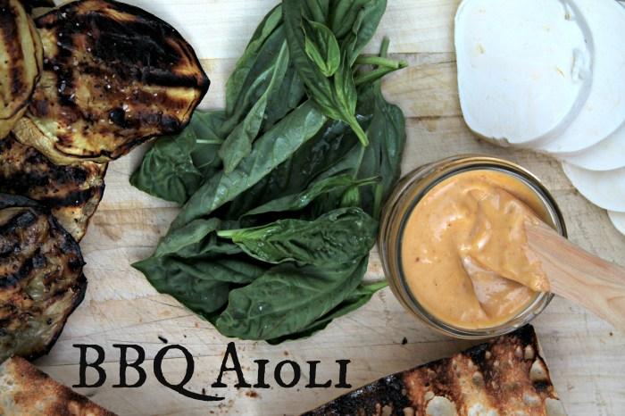 BBQ Aioli set up