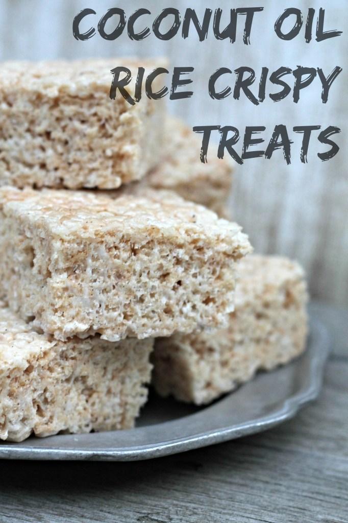 Coconut Oil Rice Crispy Treats