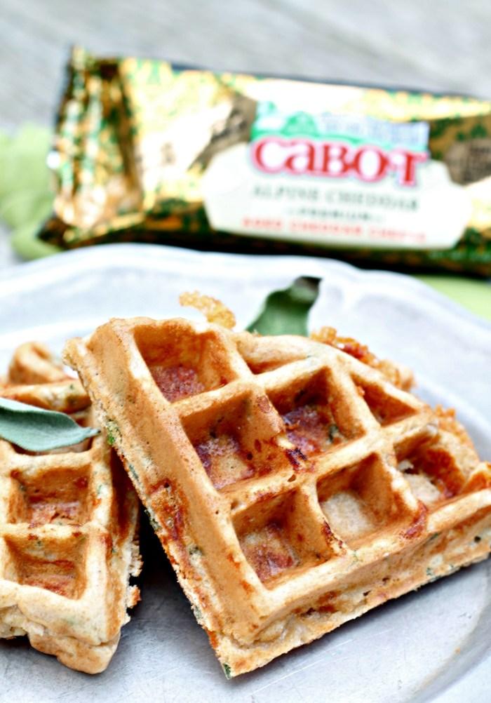 Savory Cheddar Sage Waffles 3