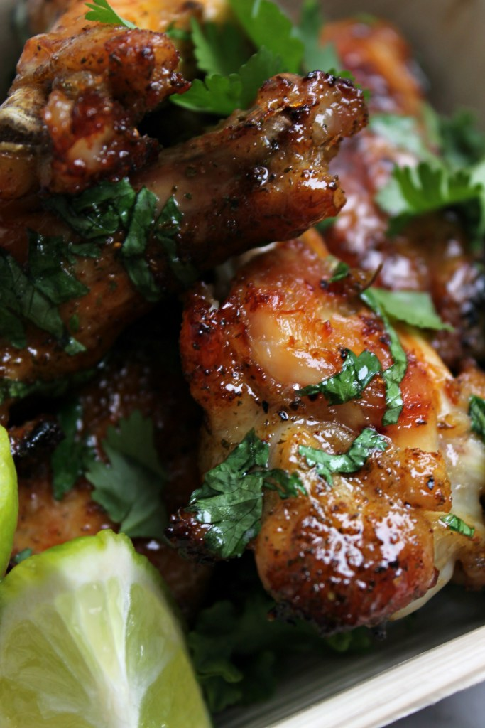 Honey Glazed Cilantro Lime Wings - the perfect hand-held appetizer!
