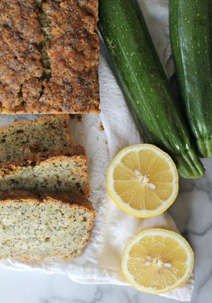 This recipe for Lemon Poppyseed Zucchini Bread is perfect for summer squash!