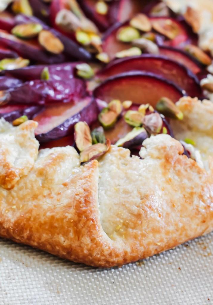 Plum Pistachio Ricotta Crostata recipe