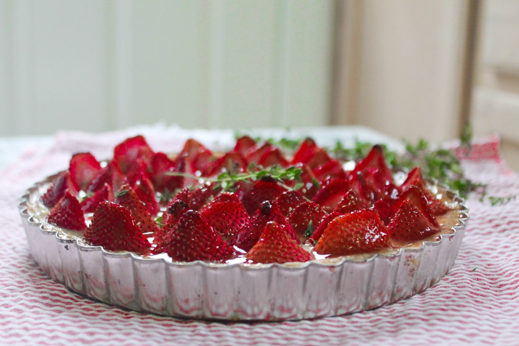 Strawberry & Thyme Honey Custard Tart-10