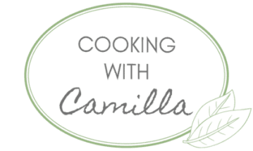 Logo for Cooking with Camilla - a blog for nutritious and delicious plant-based, gluten-free recipes.