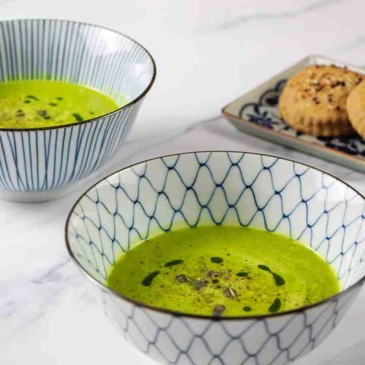 Velvety Spinach and Cannellini Bean Soup – rich, creamy and intensely satisfying.