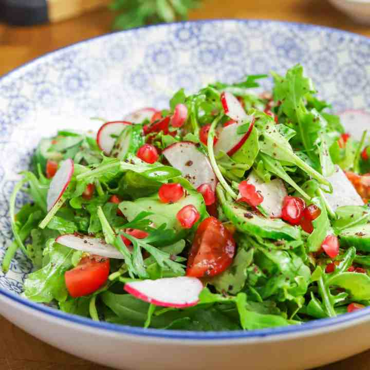 Middle Eastern Rocket Salad with Sumac and Pomegranate